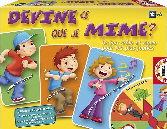 Educa 13862 Jeu De Societe Devine Ce Que Je Mime Amazon Fr Jeux Et Jouets