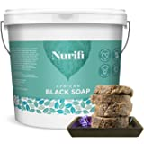Nurifi African Black Soap - 500g - made from Coconut Oil and Shea Butter