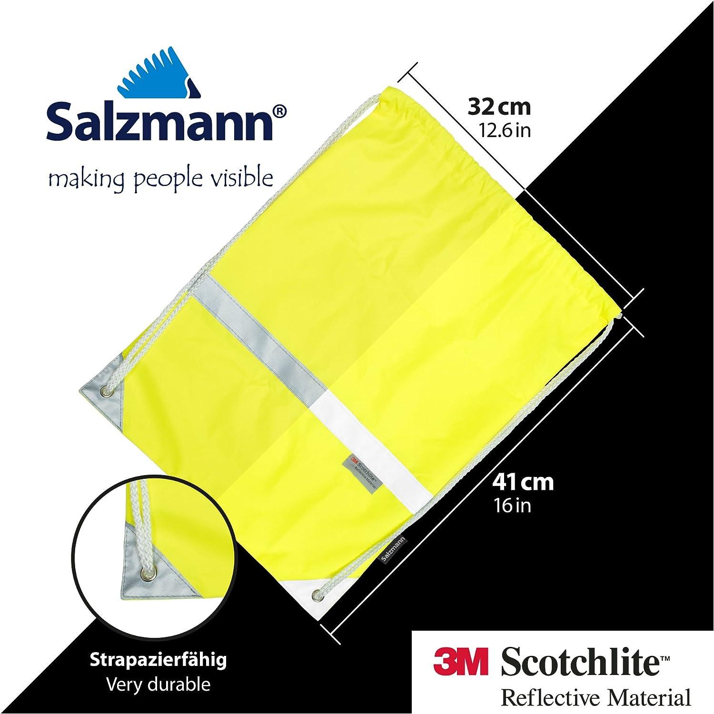 Salzmann bolsa de cuerdas con material reflectante 3m Scotchlite amarillo ne/ón gymsack