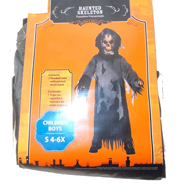 Haunted Skeleton Ghoul Boys Costume NWT 4-6x