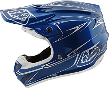 Troy Lee Designs 2018 Tld Se4 Polyacrylite Helmet Pinstripe Blue Mx