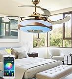 36 inch Ceiling Fan Light with Bluetooth Speaker