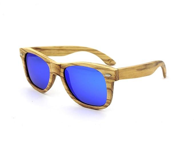 YNXing Wooden Material Rahmen Mode Sonnenbrillen Anti-UV Sonnenbrillen Polarisierte Sonnenbrillen (Braun) V1PPt