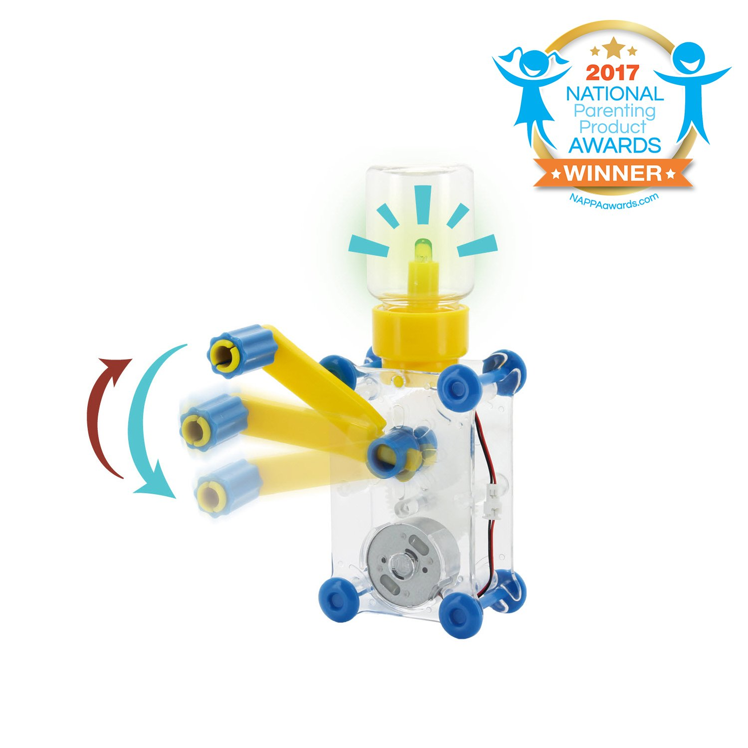 Tenergy ODEV Dynamo Lantern Educational STEM Building Toy, Hand Cranked Power Generator, Light Bulb Science Experiments Kits for Kids Age 8+