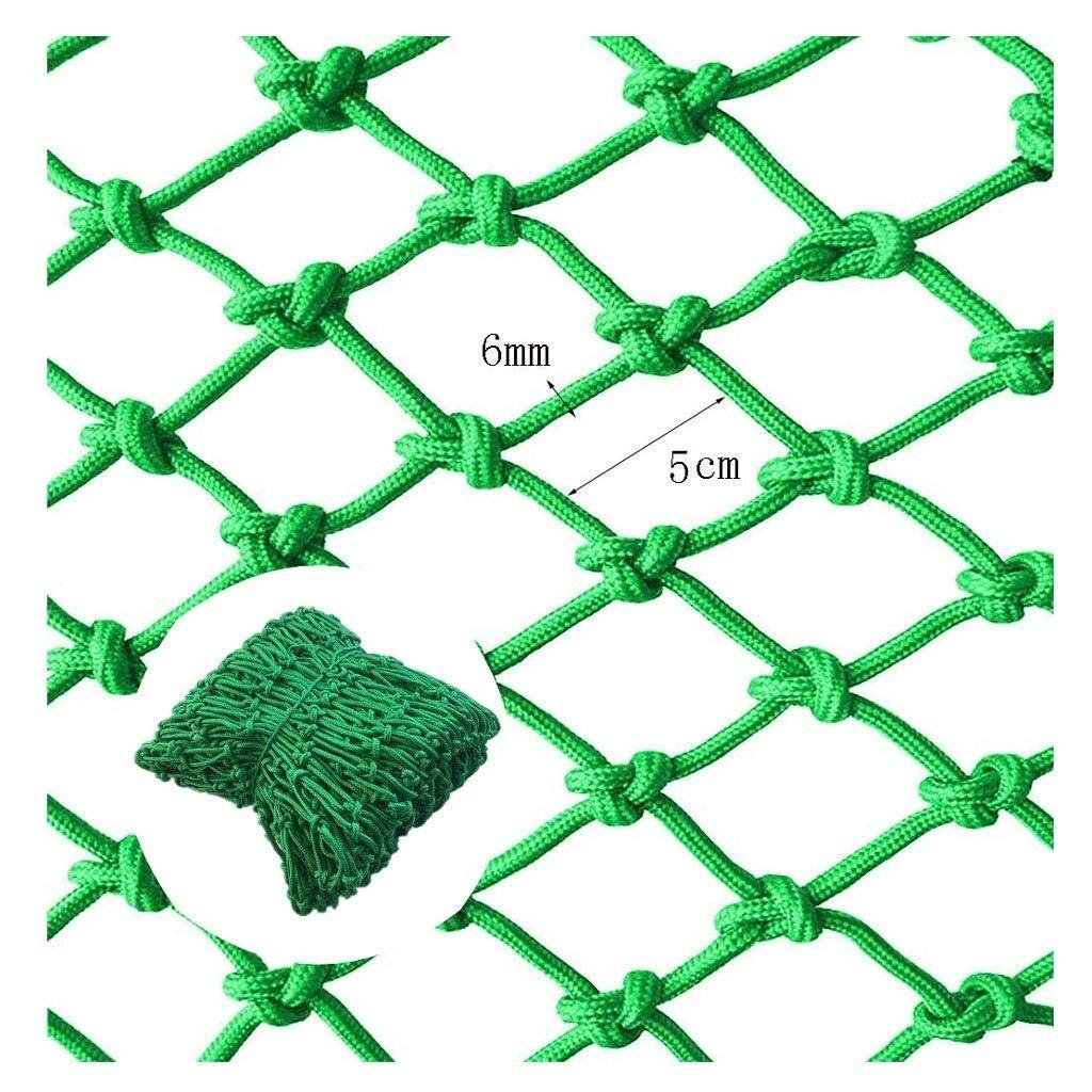 HUU Green Rope Net Protection Net Pet Fence Net Child Safety Net Climbing Net Anti-Fall Net, Railing Safety Net Balcony Safety Net Protection Net for Indoor and Outdoor UseHanging Net Nylon Rope