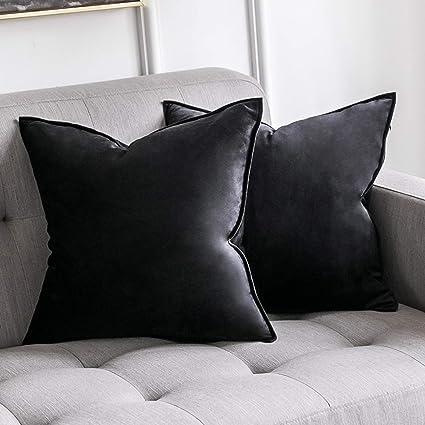 Pad Elegance Velvet Pillow Case Plain Grey 40 x 40 cm 50 x 50 cm Polyester