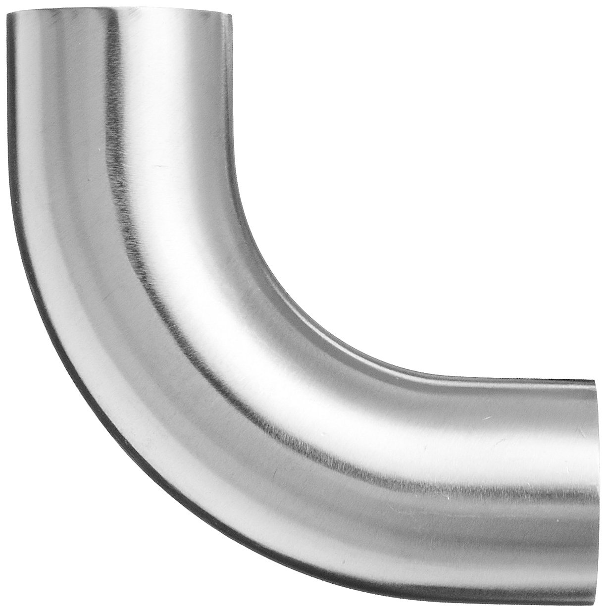 Dixon B2S-G100P Stainless Steel 304 Sanitary Fitting 90 Degree Polished Weld Long Elbow with Tangent 1 Tube OD