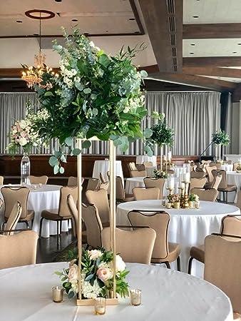 Amazon Everbon Pack Of 10 Wedding Flower Vase Metal Flower