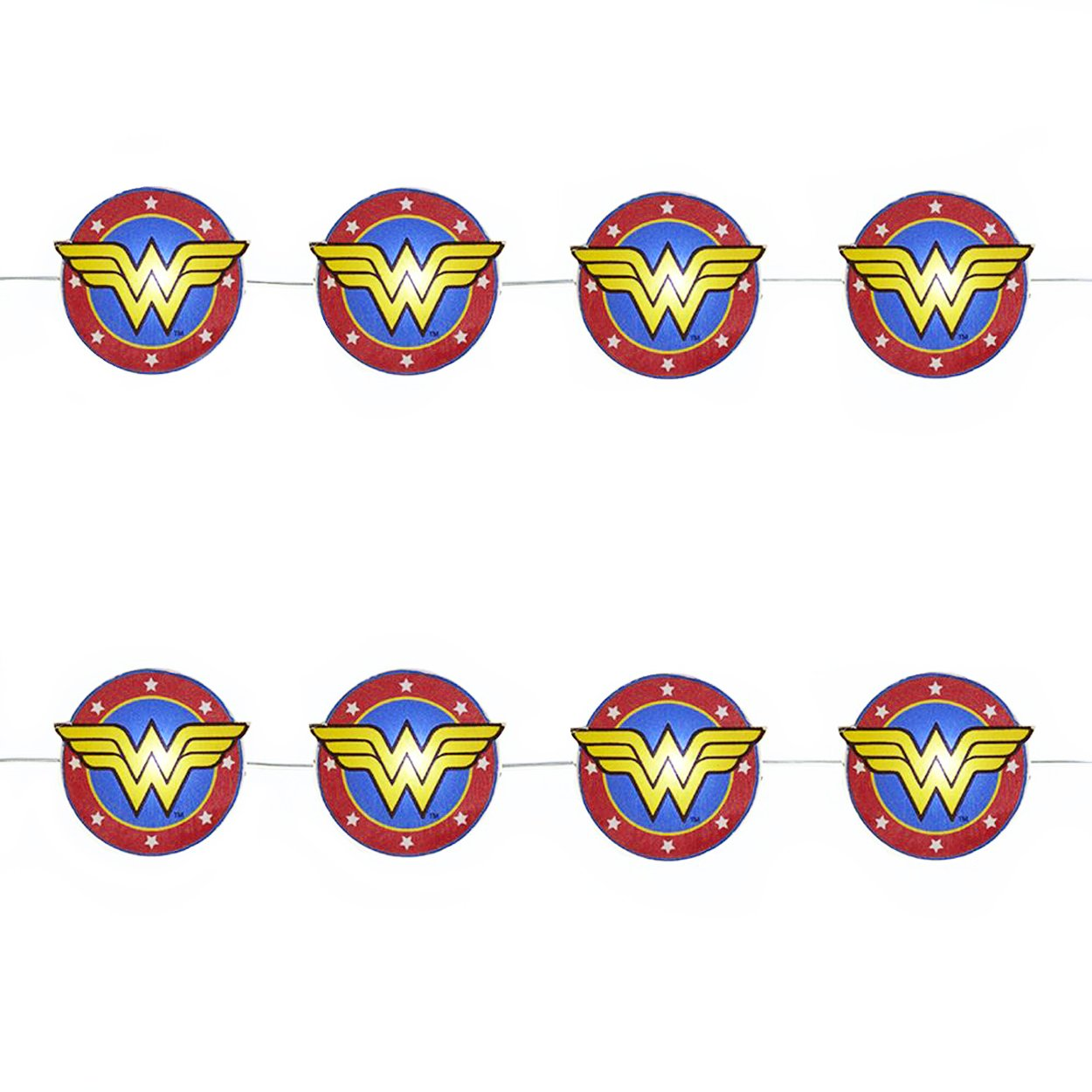 Kurt Adler DC Comics Wonder Woman Christmas Holiday LED Fairy Lights Boxed (Red)