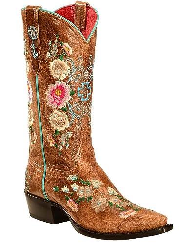 cd8bba8efb2 Macie Bean Women's Rose Garden Cowgirl Boot Snip Toe
