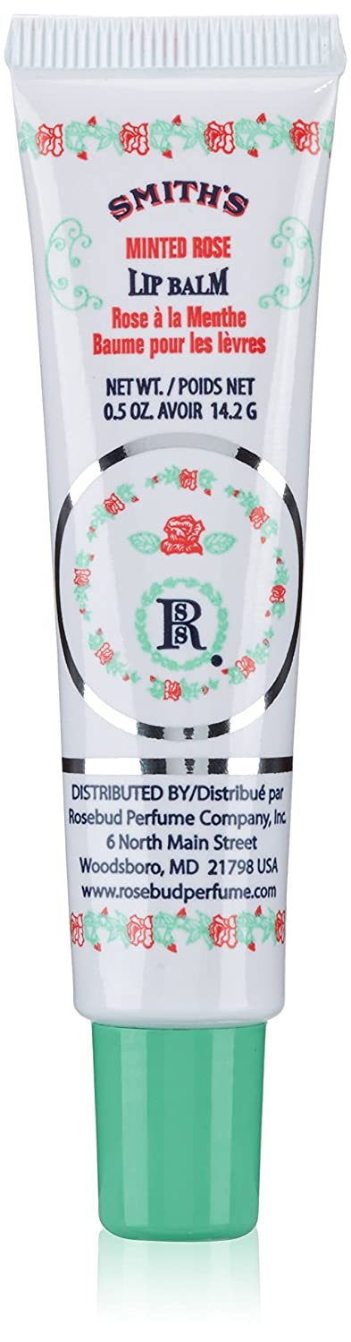 Smith's Rosebud Perfume Co. Minted Rose Lip Balm in a Tube .5 oz
