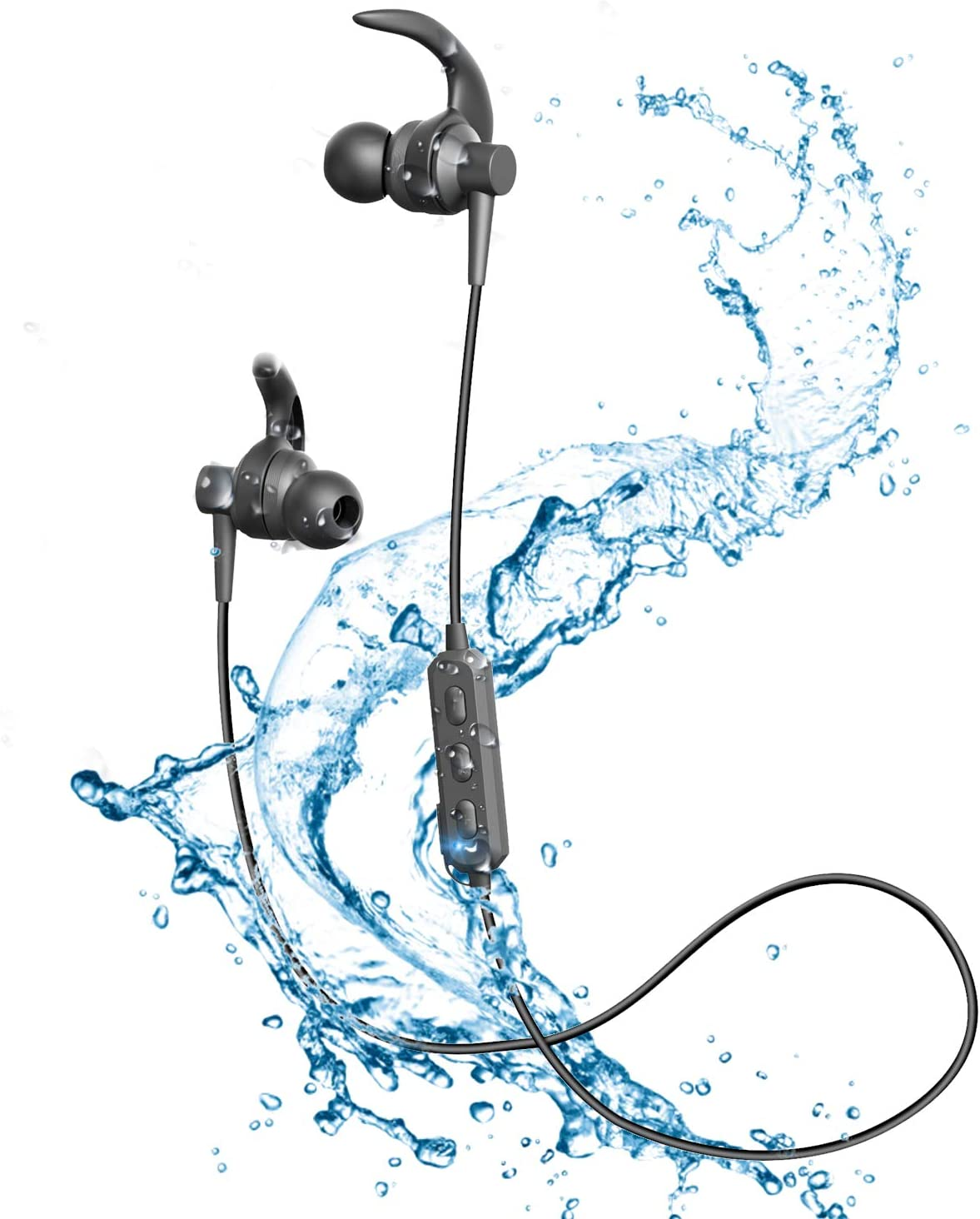 Wireless Headphones Bluetooth Headphones Wireless Sport Earphones Bluetooth 5.0 IPX6 Waterproof Sports Earphones Gym Running HD Stereo Headset w Mic 11 Hours Playtime Sports Noise Cancelling Bluetoot