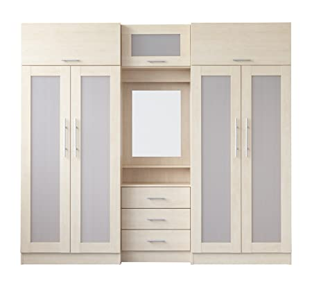 overhead bedroom furniture. Melbourne Bedroom Furniture In Maple - Large Wardrobe Fitment With 4 Doors, Chest Of Drawers Overhead E