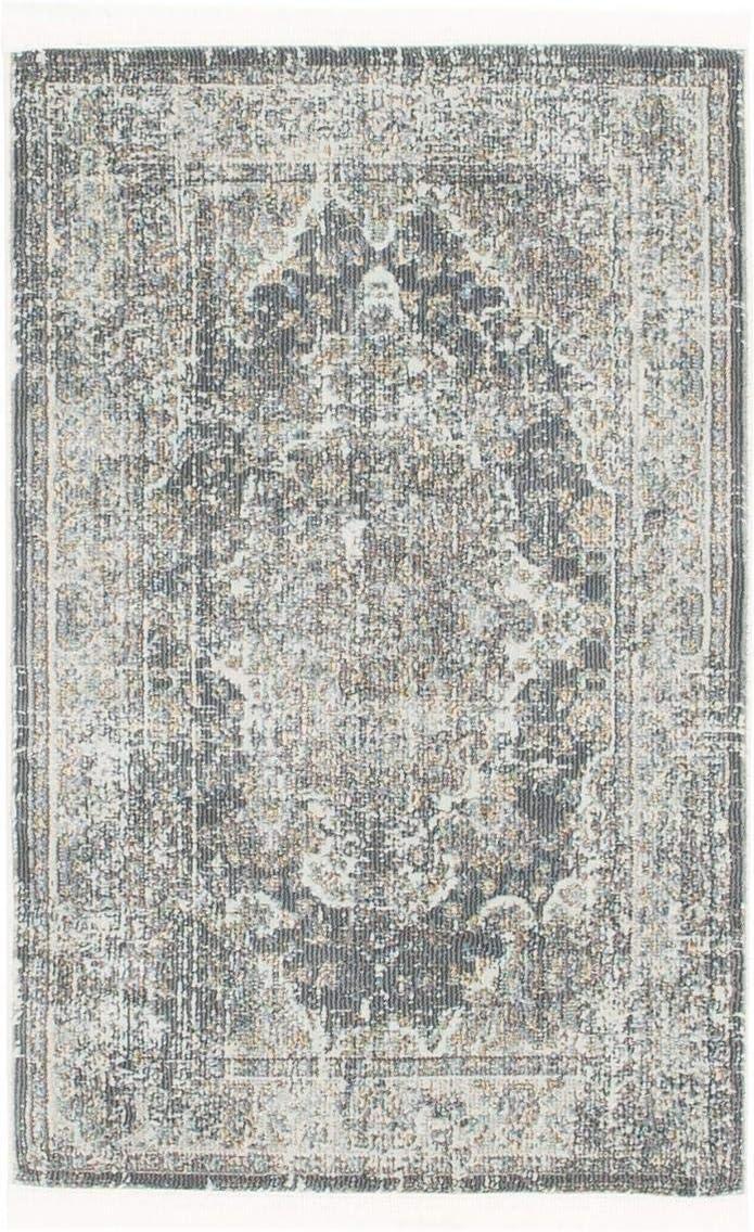 Unique Loom Baracoa Collection Bright Tones Vintage Traditional Dark Gray Area Rug 2 2 x 3 0