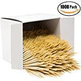 Griddle Kings Bulk Toothpick 1,000 Pack. Restaurant-Grade, Classic Round Tooth Pick Set in Reclosable Box. Made to be Precisely Straight & Uniform from Pure Virgin Wood. Wholesale Supply.