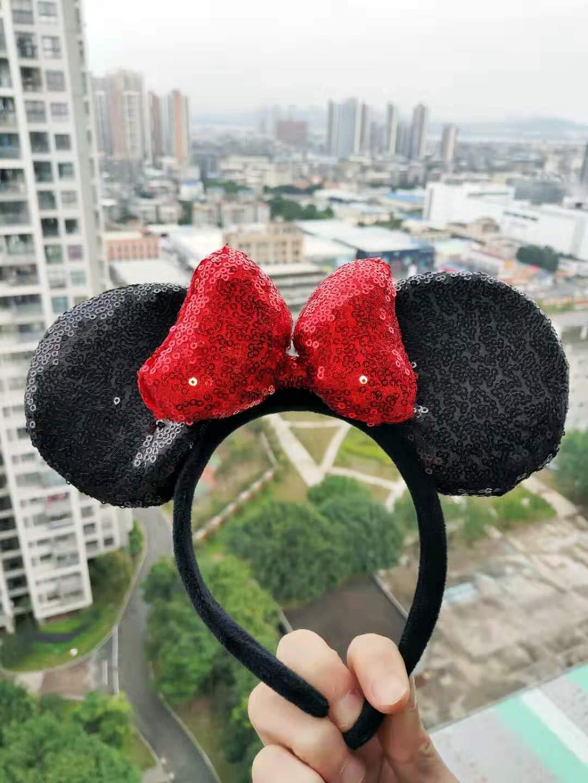 Three-Dimensional Minnie Sequin Ears Mickey Sequin Ears Adult Minnie Ears Adult Mickey Ears Sparkly Minnie Ears Mouse Ears Headbands Butterfly Glitter Hairband