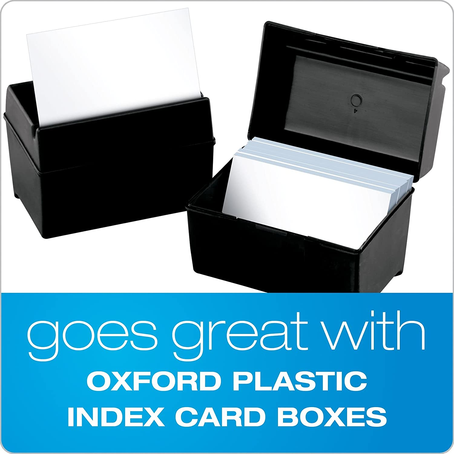 Unruled Index Cards 4 x 6 White 100//Pack