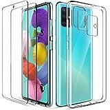 LK Compatible con Samsung Galaxy A51 Funda, 2 Pack HD Cristal Protector de Pantalla y 2 Vidrio Templado Protector de…