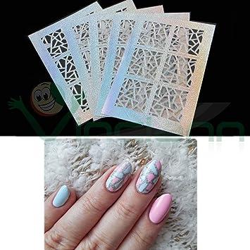 5 Schablonen Nail Art Stickers Aufkleber Dreiecke Amazonde Elektronik