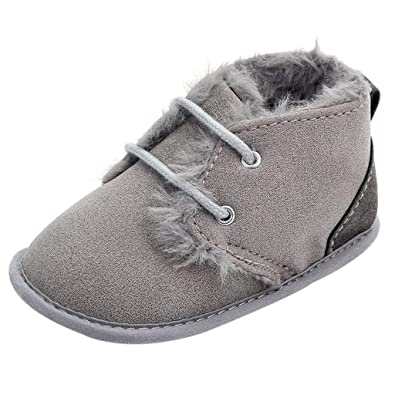 3509bbe86 Amazon.com | Newborn Baby Snow Boots, Infant Boys Girls Fleece Warm  Anit-Slip Soft Sole Prewalker Shoes | Boots