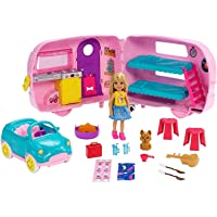 ​Barbie Club Chelsea Camper Playset with Chelsea Doll, Puppy, Car, Camper, Firepit...