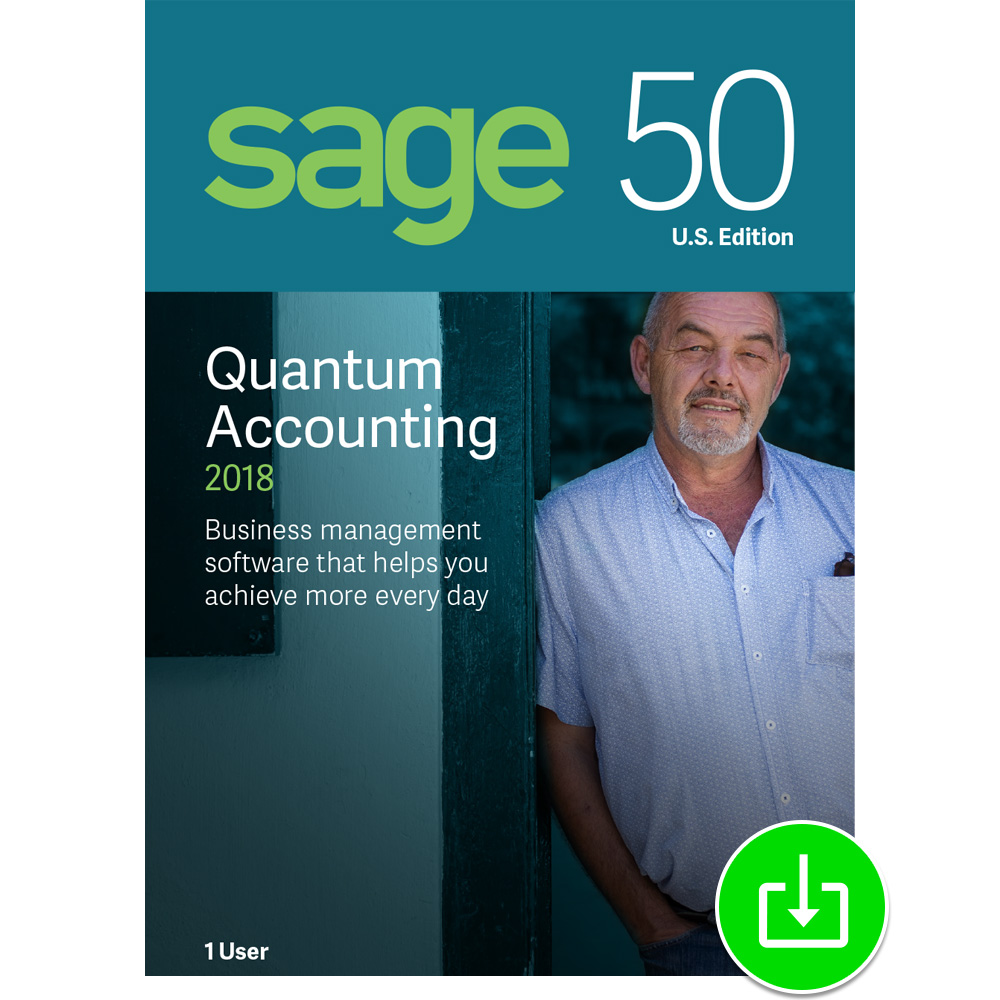 Sage 50 Quantum Accounting 2018 U.S. 1-User [Download] by Sage Software