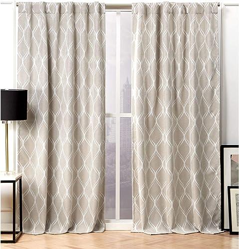 Nicole Miller Circuit Curtain Panel - a good cheap window curtain panel
