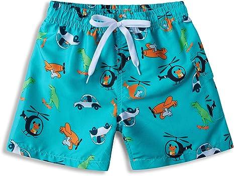 ALISISTER Costume da Bagno Bambino Ragazzi Asciugatura Veloce 3D Stampato Pantaloncini da Spiaggia 3-10 Anni
