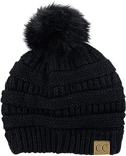 7bc70a4dec40a NYFASHION101 Exclusive Soft Stretch Cable Knit Faux Fur Pom Pom Beanie Hat