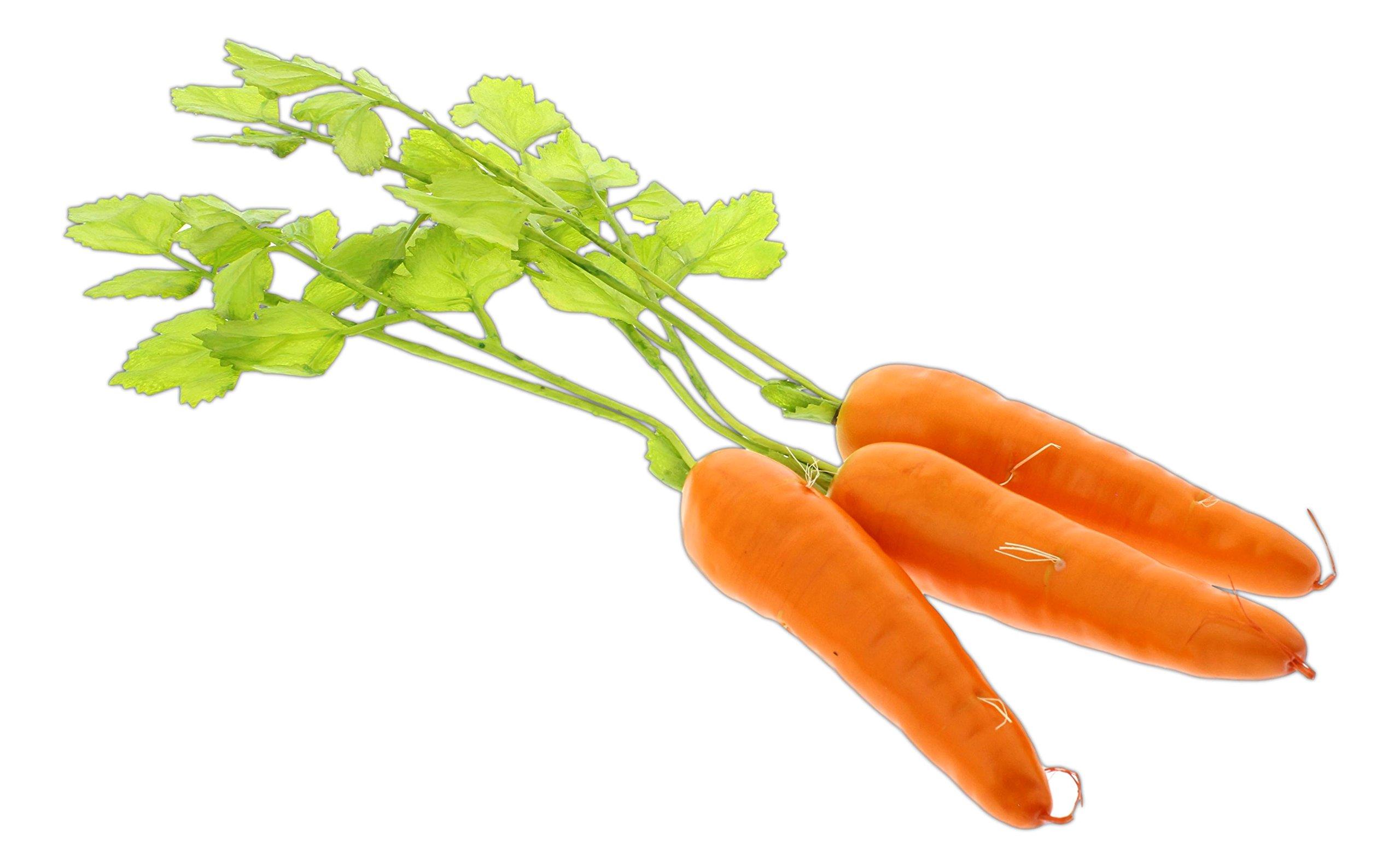 Flora Bunda 15'' Artificial Raw Carrot Replica Props - Set of 3