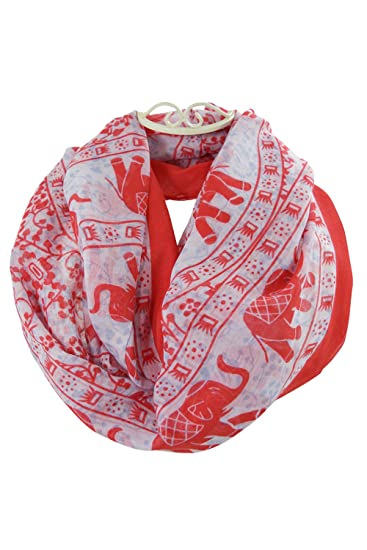 e8ea4bbe402aa Image Unavailable. Image not available for. Color  Indian Ornament Pattern  with Lucky Elephant Print Fashion Scarf