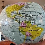 Amazon.com: Pelota hinchable de mundo Globe playa 9