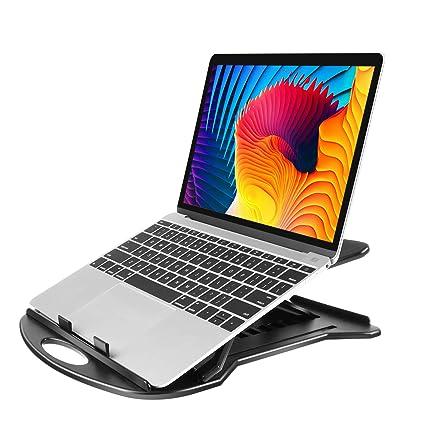 Soporte Ajustable de Ordenador Portátil - Base Giratoria 360° 7 Ángulos de Inclinación para Laptop