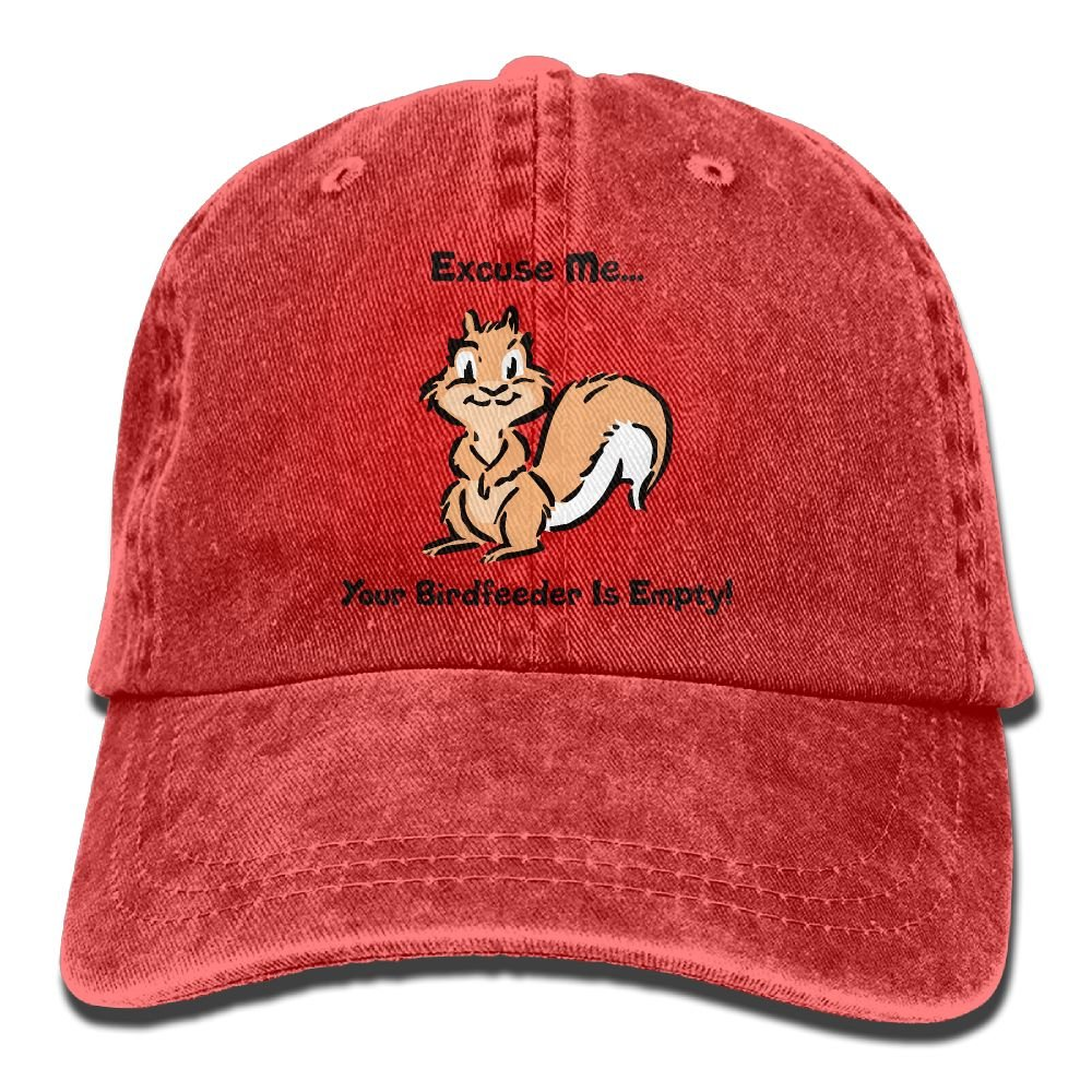 XZFQW Excuse Me Your Birdfeeder is Empty Trend Printing Cowboy Hat Fashion Baseball Cap for Men and Women Black