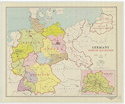 Map Of Germany Occupation Zones.Amazon Com Vintography Professionally Reprinted 18 X 24 Image Of
