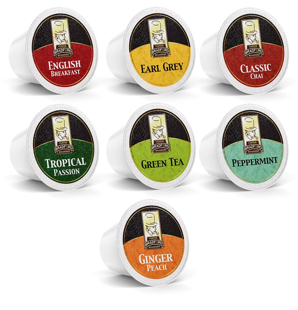 Bradford Tea - 48 Ct. Tea Variety K-Cup Pods, Compatible with 2.0 K-Cup Brewers