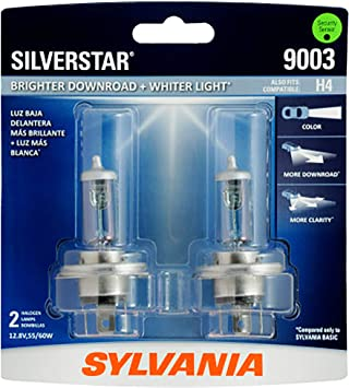 Sylvania Silverstar 9003 HB2 H4 60//55W One Bulb Head Light Dual Beam Replace OE