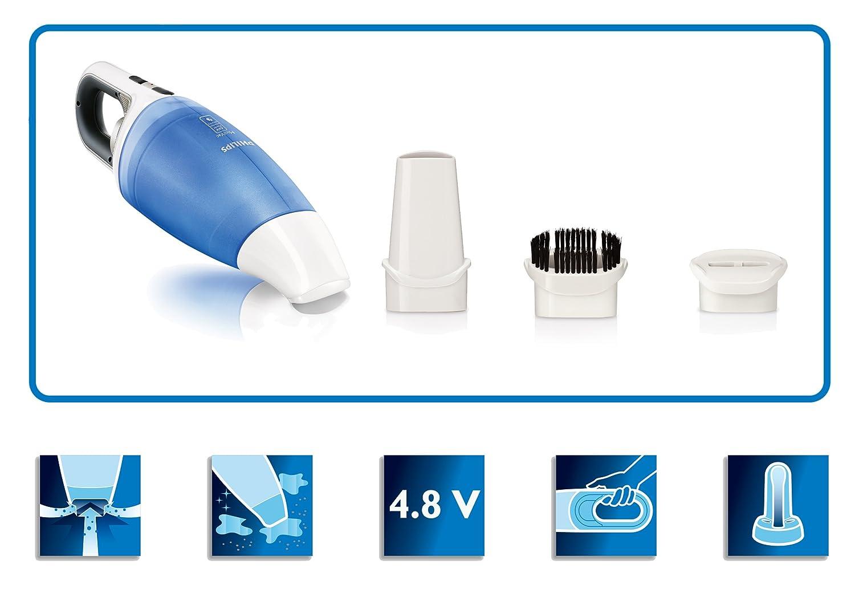 9 W 4.8 MB//s Azul Aspirador 76 Db Philips Mini Vac FC6142//01 56 W 18 MB//s