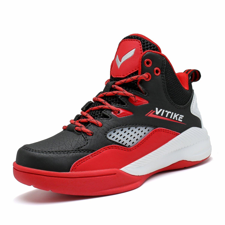 Zapatillas de Baloncesto Niños Zapato Deportivas para Niña Unisex-Niños(Rojo Azul)