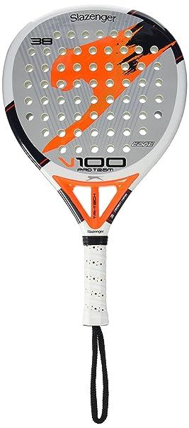 Slazenger V100 Pro Team - Pala de pádel, color blanco/gris/naranja, 38 mm: Amazon.es: Deportes y aire libre