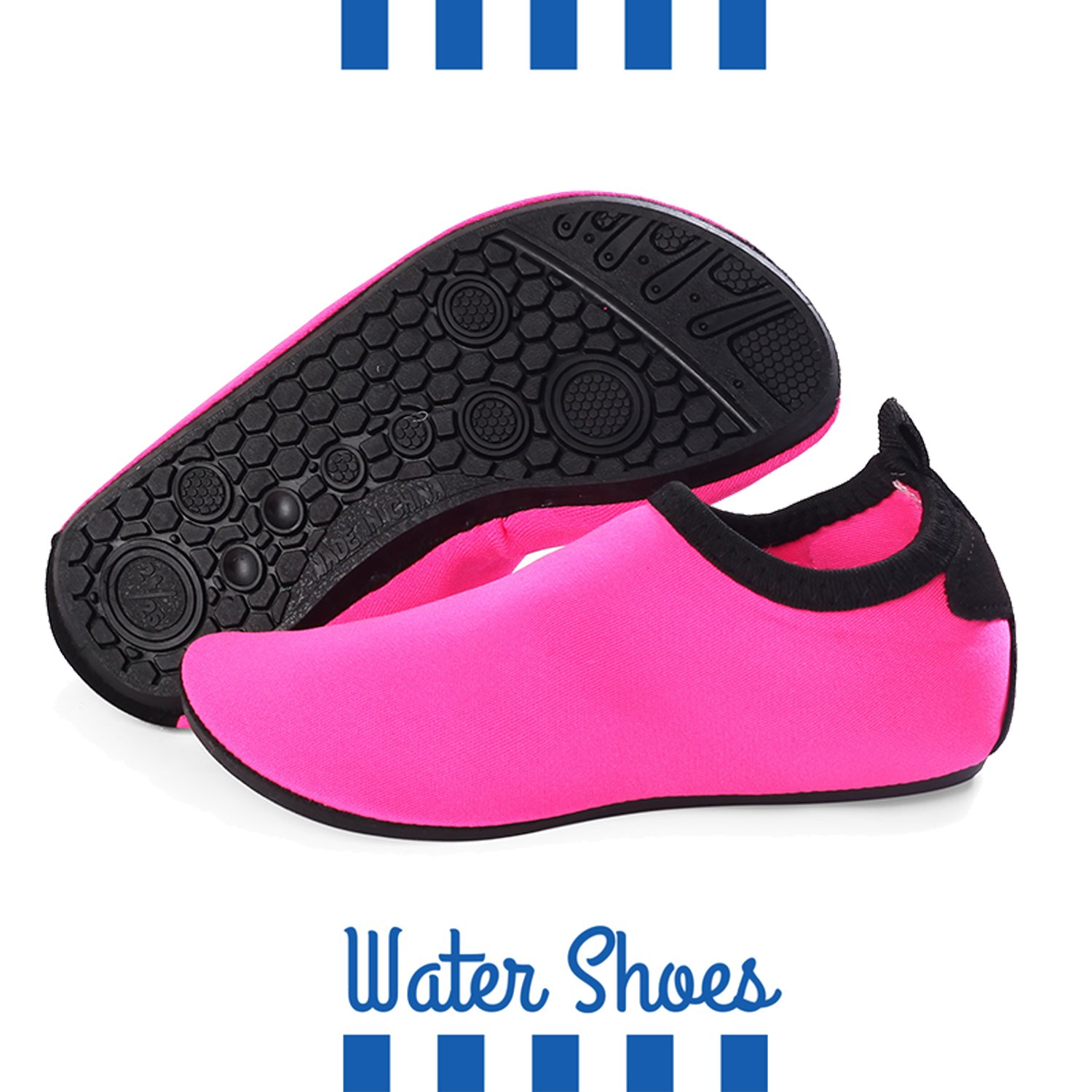 BETTERLINE Kids Water Shoes for Girls /& Boys Quick-Dry Beach Shoes with Removable Insoles