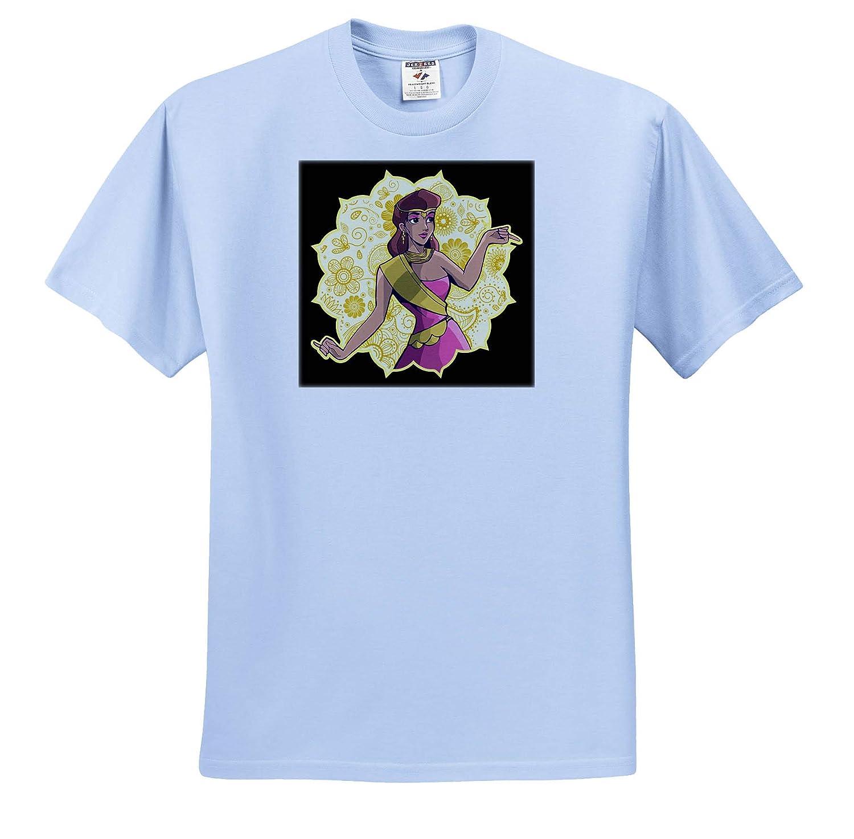 3dRose Sven Herkenrath Fantasy Indian Princess Illustration with Mandala Style ts/_314126 Adult T-Shirt XL
