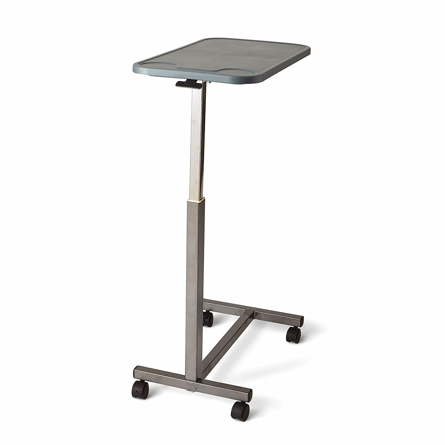 Medline - n Adjustable Overbed Bedside Table with Wheels, Great for Hospital Use or At Home as Bed Tray, Composite Table Top: Industrial & Scientific