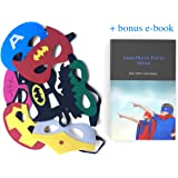 IQ Kiddies Superhero Masks –Variety of masks in a 28-piece set, made from a soft felt and a good choice for Superheroes birthday party supplies. Girls and boys enjoy these party favors