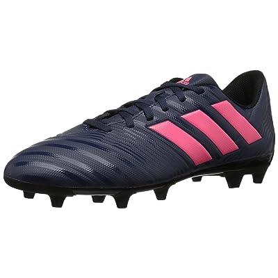 adidas Women's Nemeziz 17.4 FG W Soccer Shoe, Trace Blue/Red Zest/Core Black, 7 M US | Soccer