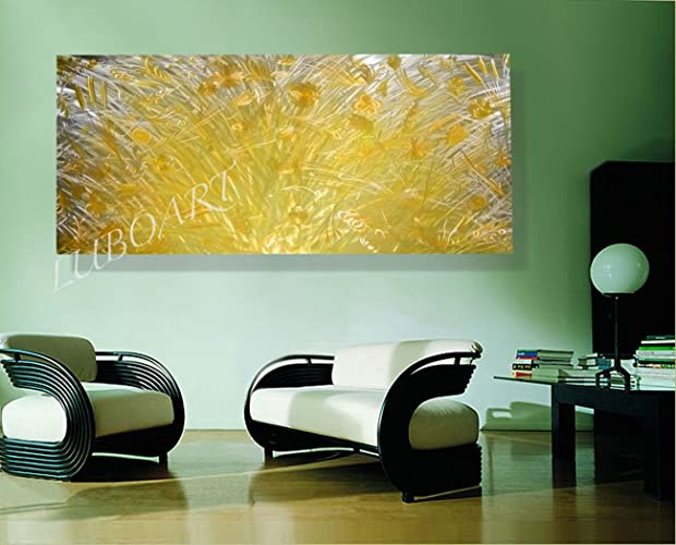 Amazon.com: Large METAL art yellow flower Long 3D Video BIG wall ...