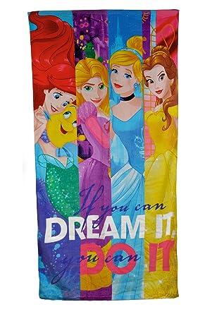Disney - Toalla de baño, diseño con princesas de Disney, 100% algodón, talla única, Talla única: Amazon.es: Ropa y accesorios