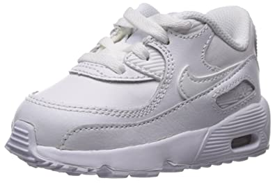 brand new c2049 1cb16 Nike Boys Air Max 90 Leather (TD), Chaussures Mixte Enfant, Blanc White