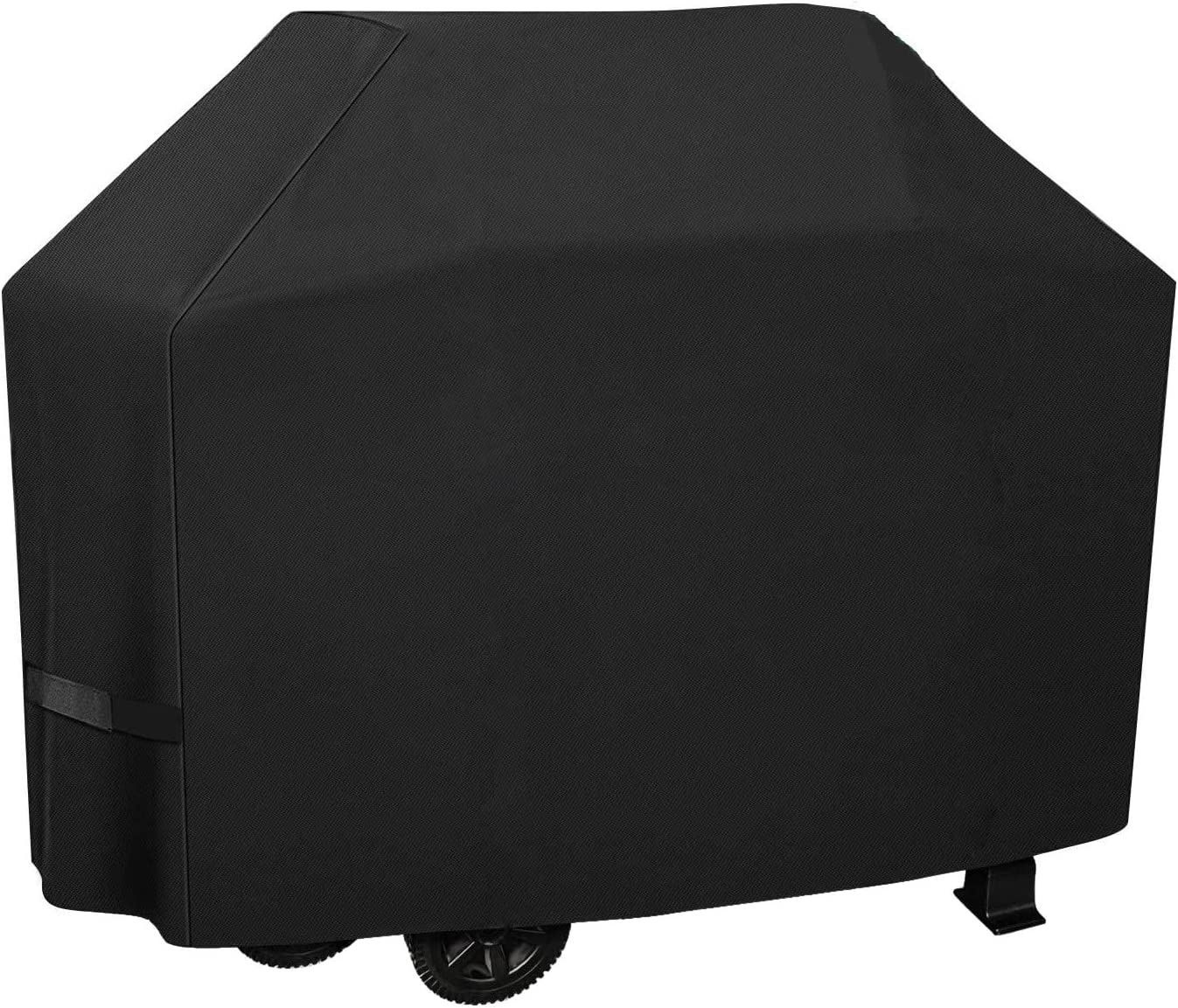 Estefanlo Grill Cover,58 inch BBQ Grill Cover,Waterproof Heavy Duty Rip-Proof Fade Resistant BBQ Cover Oxford Outdoor Gas Grill Cover for Garden Barbecues Weber Brinkmann Char Broil,Black