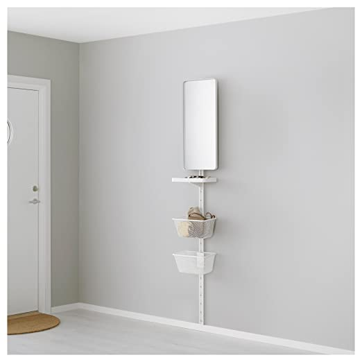 IKEA Algot - pared vertical / espejo / Cesta blanca: Amazon ...